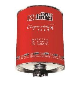 Caffe Molinari Cinque stelle red tin